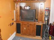 custom made maple wall unit