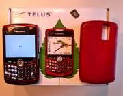 Telus Red Blackberry Curve 8330