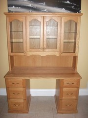 Wooden Oak Kitchen Hutch For Sale